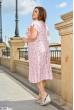 Рожева гармонійна сукня з квітковим принтом