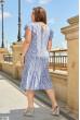 Сіра ніжна квіткова сукня міді зі штапеля