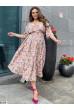 Пудрове елегантне квіткове плаття міді