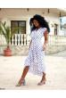 Білосніжна літня повітряна сукня королівських розмірів