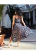 Чорна ефектна вишукана сукня з шифону