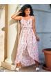 Пудрове чарівне шифонове плаття з квітковим принтом