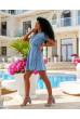 Трендове коротке плаття для повних жінок джинсового кольору