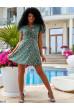 Тендітне коротке плаття кольору хакі