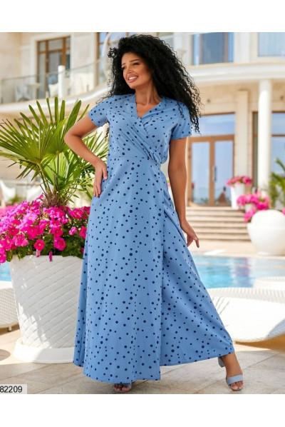 Зачаровуюча сукня максі джинсового кольору