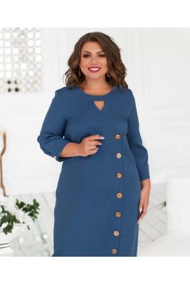 Зручне нарядне плаття джинсового кольору