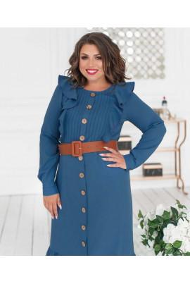 Блакитне нарядне плаття з оборками