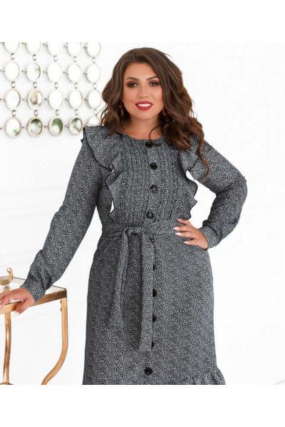 Сіре вишукане плаття великого розміру