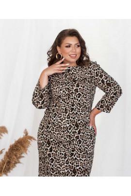 Леопардове стильне плаття