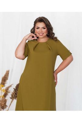 Оливкове затишне плаття батал
