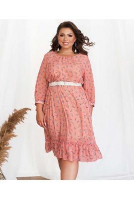 Пудрове романтичне плаття з принтом
