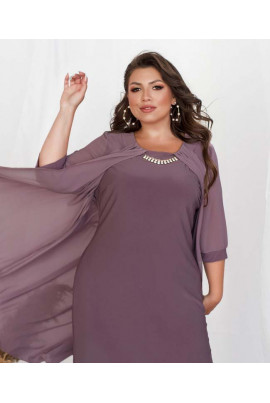 Світло-фрезове нарядне плаття міді