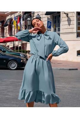 Блакитне розкішне ніжне плаття