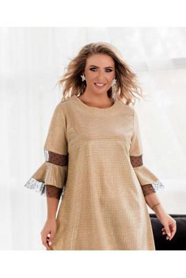 Золотисте вишукане плаття великих розмірів