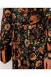 Коричнево-гірчичне практичне плаття з принтом