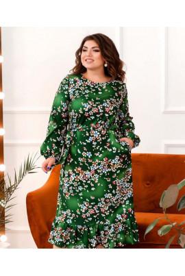 Зелене дивовижне помітне плаття для жінок з пишними формами