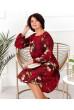 Червоне незвичайне жіноче плаття з квітковим принтом
