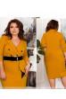 Гірчичне елегантне плаття великих розмірів