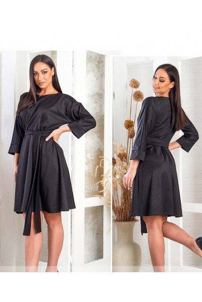 Чорна дивовижна базова сукня