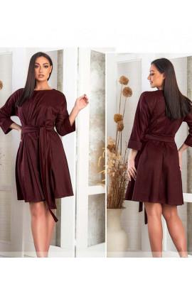 Бордове унікальне повсякденне плаття
