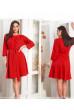 Червоне ефектне плаття для жінок з апетитними формами