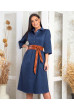 Стильне затишне плаття джинсового кольору