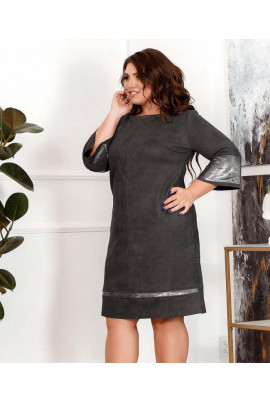 Сіре замшеве практичне плаття великих розмірів