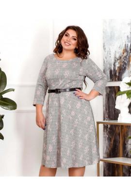 Сіра лаконічна актуальна сукня міді