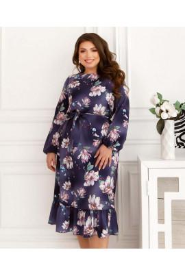 Фіолетове вишукане плаття з оборками