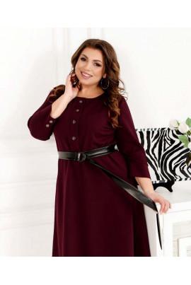 Елегантне повсякденне плаття кольору марсала