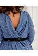 Привабливе просторе плаття міді джинсового кольору