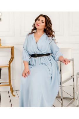 Небесно-блакитне романтичне плаття великих розмірів