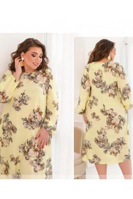 Кремове чарівне привабливе плаття великих розмірів