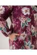 Бордова жіночна ніжна сукня великих розмірів