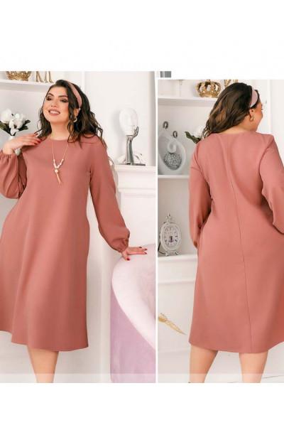 Рожева чарівна затишна сукня великих розмірів