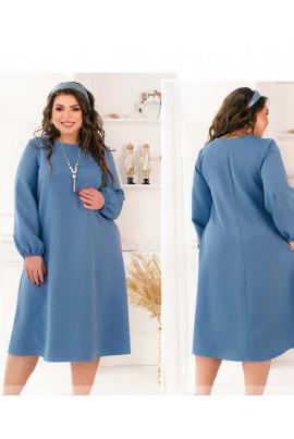 Блакитне оригінальне весняне плаття для повних жінок