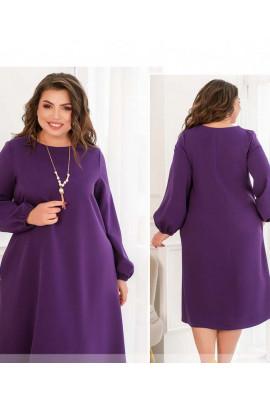Фіолетове практичне плаття міді з кишенями