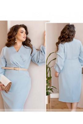 Блакитне елегантне жіноче плаття великих розмірів