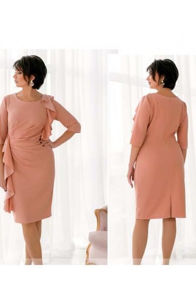 Пудрове ошатне романтичне плаття для жінок з апетитними формами