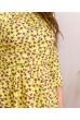 Жовте сонячне барвисте плаття для жінок з пишними формами