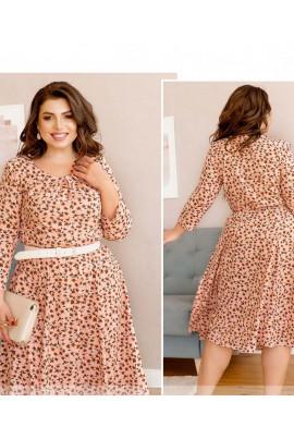 Пудрова романтична квіткова сукня великих розмірів