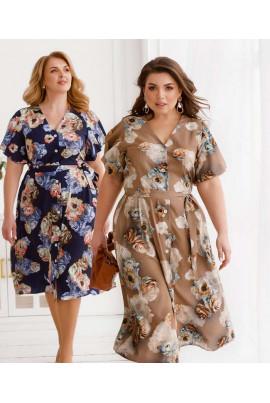 Стильне жіноче плаття кольору капучіно