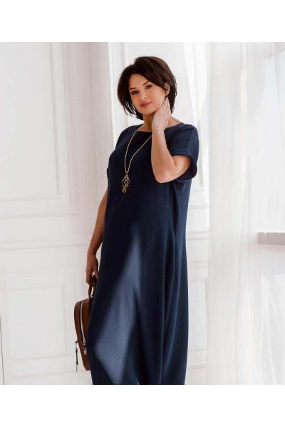 Синя простора дивовижна сукня великих розмірів