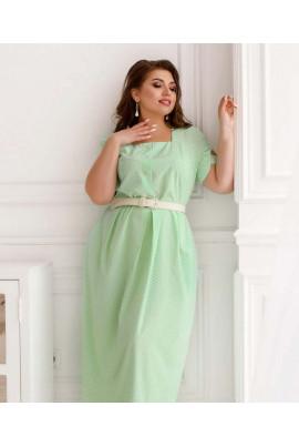 Ментолове легке чарівне плаття з принтом