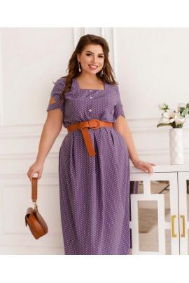 Лавандове елегантне плаття для повних жінок