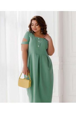 Оливкова стильна сукня для жінок з апетитними формами