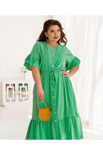 Зелене невагоме плаття міді з оборками