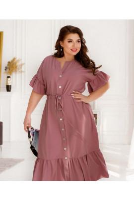 Фрезове зачаровуюче жіноче плаття великих розмірів