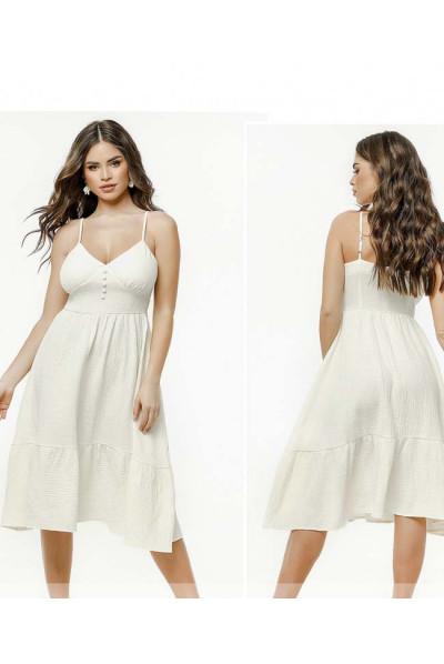 Легке ніжне плаття міді молочного кольору