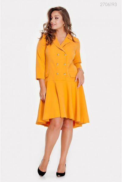 Оригінальне жовте плаття plus size
